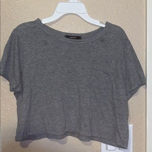 Forever 21 Gray Croptop T-Shirt